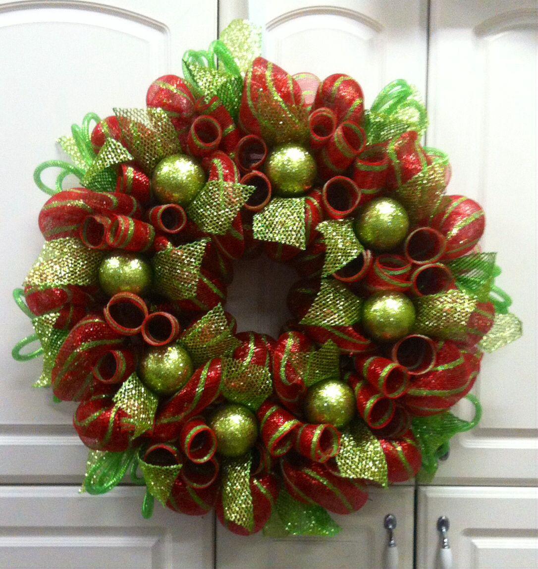 Deco Mesh Christmas Tree Wreath: Christmas Deco Mesh Wreath, Www.countrychicscreations.com