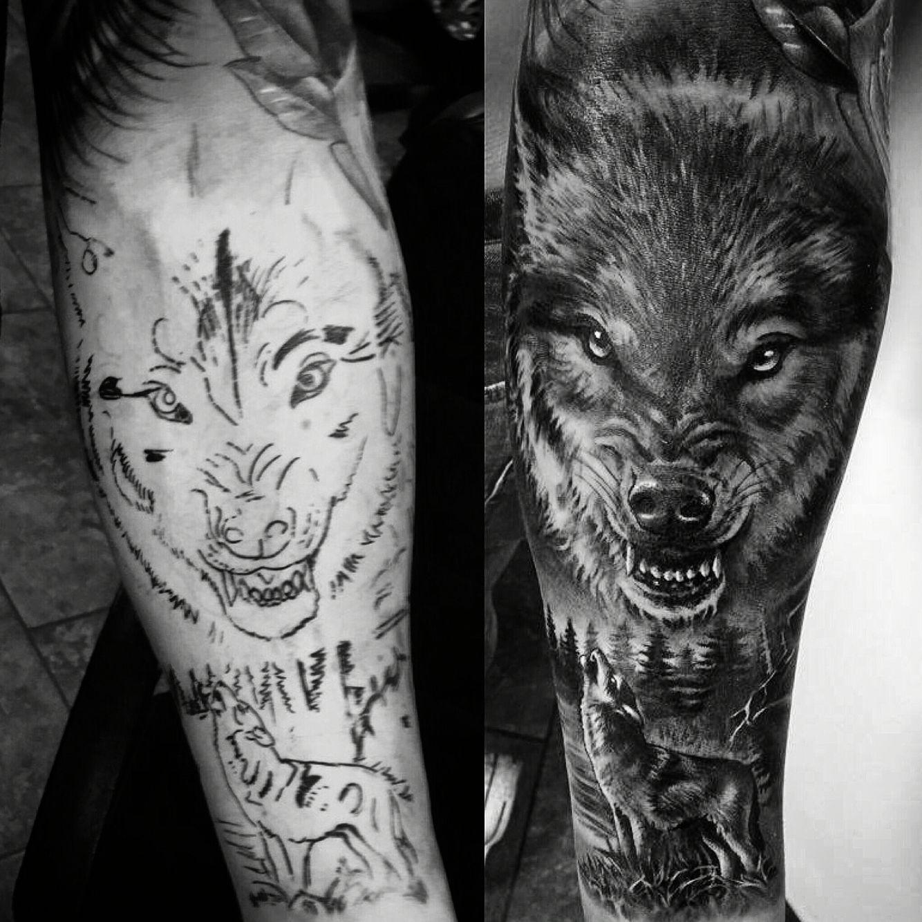 45++ Amazing Wolf forearm tattoo ideas image ideas