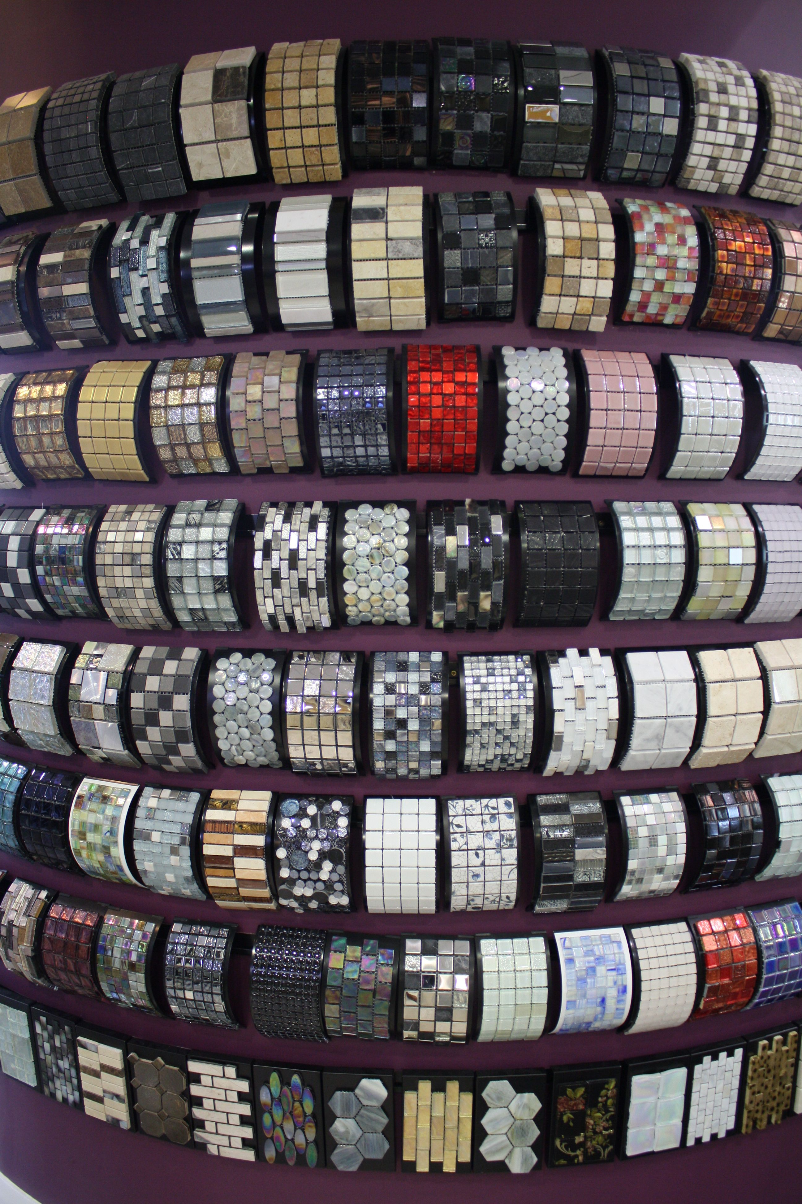 Mosaic display in all our Showrooms for endless