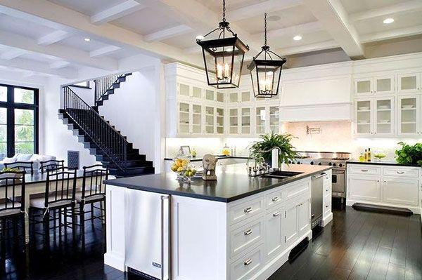 Idea design cucina bianca e nero, le foto | Kitchen | Pinterest ...