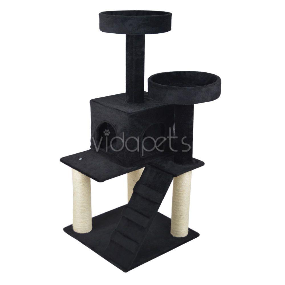 vidapets 51   black cat tree play house condo scratcher post furniture  vidapets vidapets 51   black cat tree play house condo scratcher post      rh   pinterest