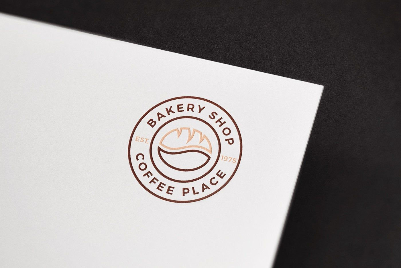 Bakery Coffee Bean and Dread Ready to Use Vector Modern