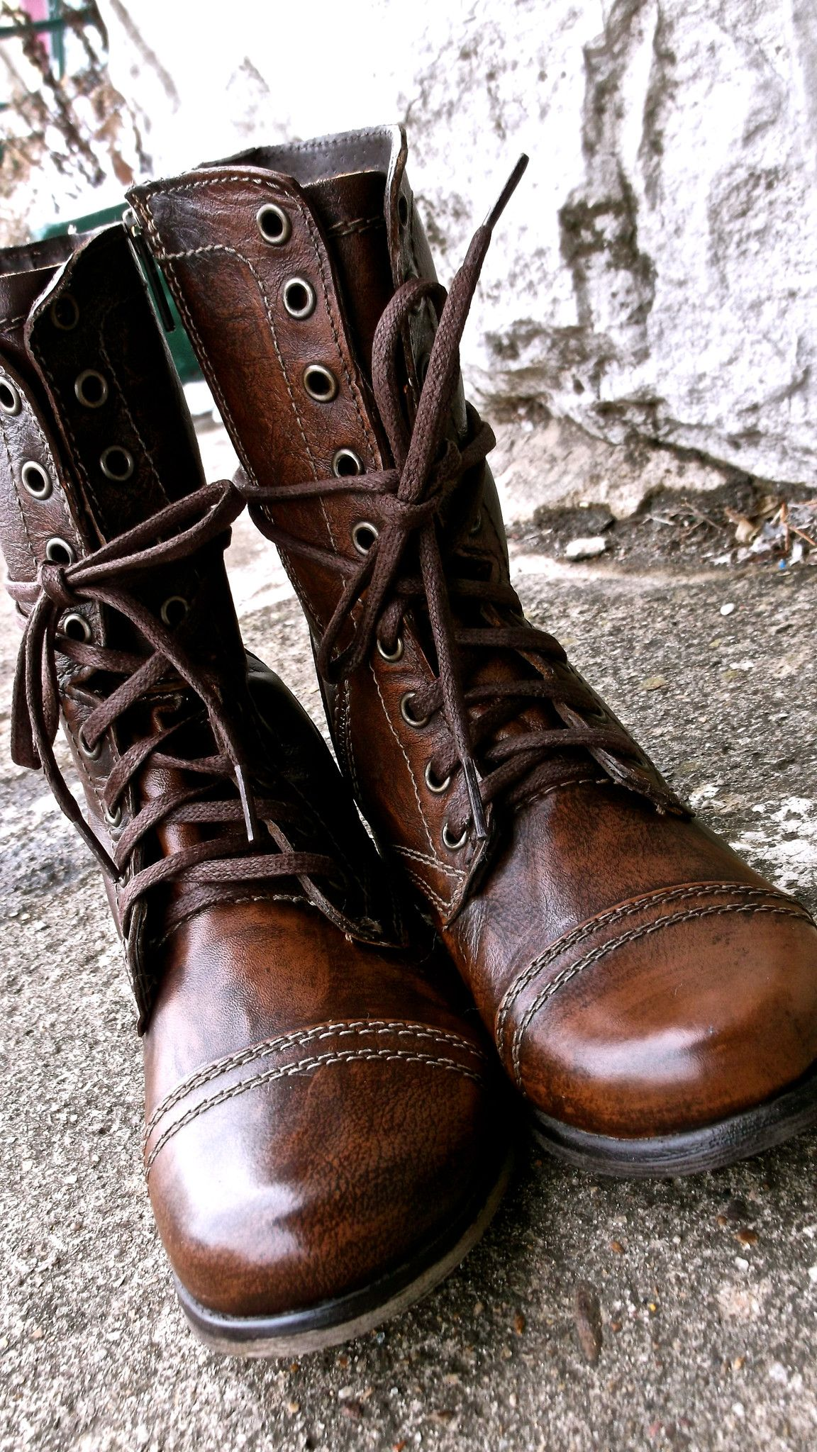 Troopa combat boots. Steven Madden<3