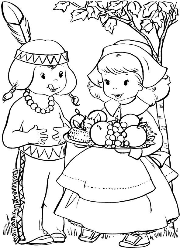 Boy Thanksgiving Food Coloring Page Kristin Batykefer Print This