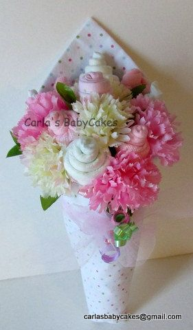 Baby Floral Bouquet Baby Shower Bouquet New Mom Gift Baby Shower
