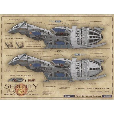 Amazon com: (12x16) Serenity Movie Firefly Blueprints