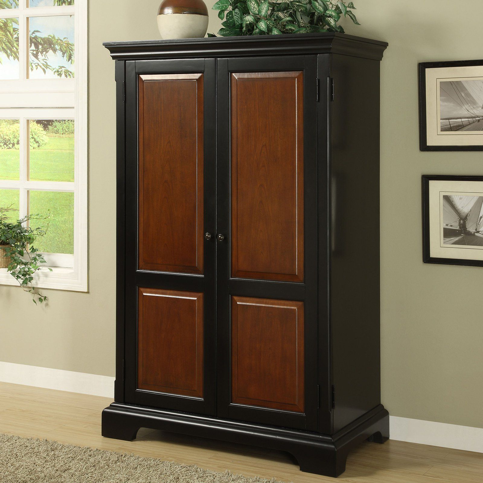 drawer peerless finesse large armoire with computer black top desk file office small