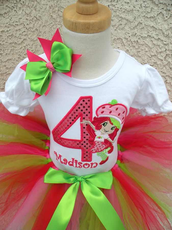 Personalized Red and Green Sequin Strawberry Shortcake Birthday Clothing For Girls ... & Personalized Red and Green Sequin Strawberry Shortcake Birthday ...