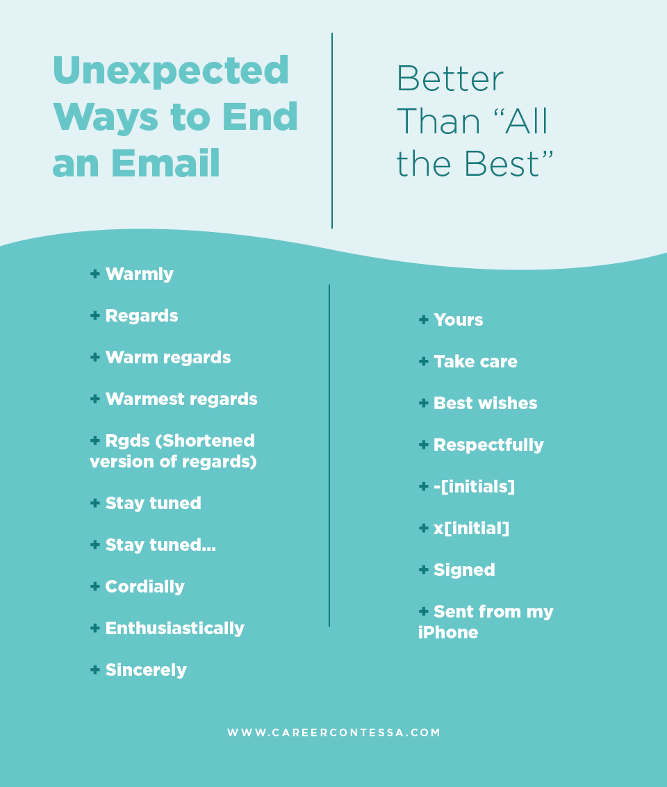 How to End an Email | Email writing, Career contessa, Work