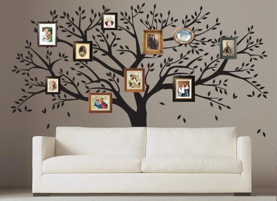 Perfect Family Tree Wall Decal   Photo Frame Tree Decal   Family Tree Wall Sticker