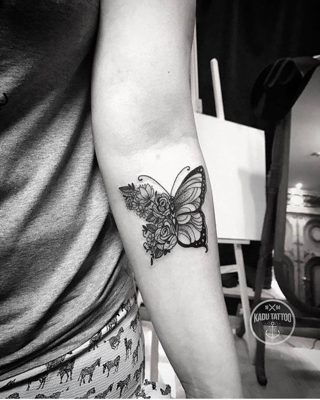 Lets Tattoo The World Xtatts On Instagram Cute Little Inner Arm Butterfly Piece Owner Kadu Tattoos Sleeve Tattoos Butterfly Tattoo