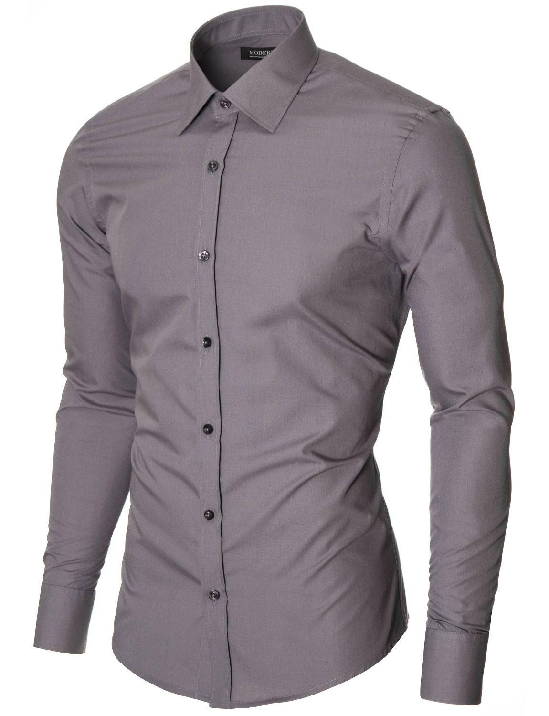 Slim Fit Herren Hemd (MOD1426LS) von MODERNO