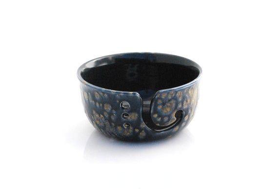 large Yarn Bowl, Knitting Bowl, unique gift, crochet bowl, knitter gift, for her, Handmade pottery #crochetbowl