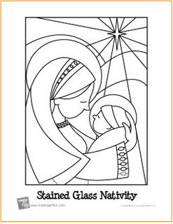 Free Coloring Page Stained Glass Nativity Scene Nativity Coloring Pages Nativity Coloring Coloring Pages