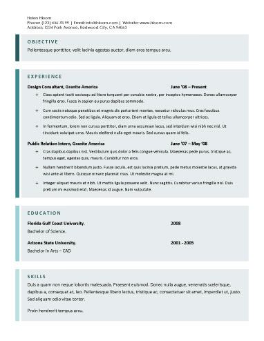 Tons Of Resume Templates  Looking Ahead