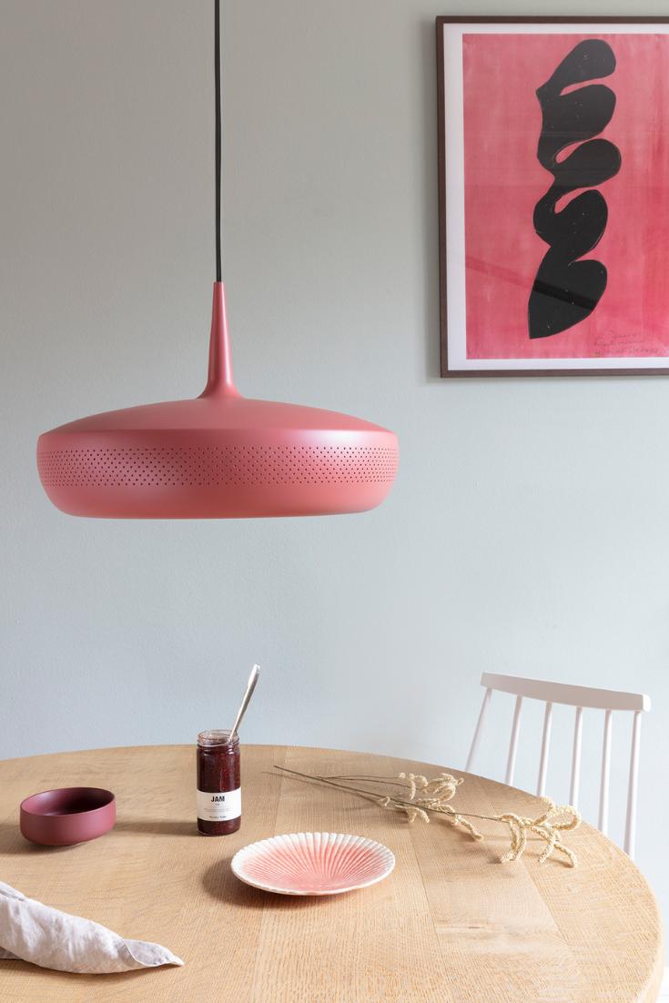 Design Decken Hänge Leuchte Wohn Ess Zimmer Pendel Lampe Glas rot orange E27