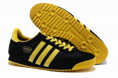 Cheap Adidas Originals Dragon Retro Running Shoes For Men In Black Yellow Adidas Originals Dragon Adidas Adidas Dragon