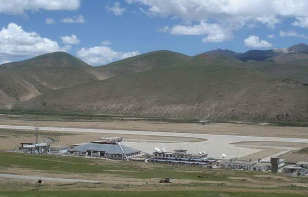 QAMDO BAMDA AIRPORT, TIBET At 14,000 ft , the thin oxygen