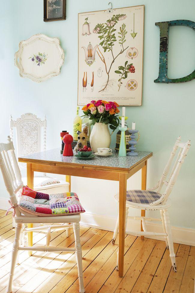 cocinas frescas y dulces -mesa de cocina extensible de madera ...