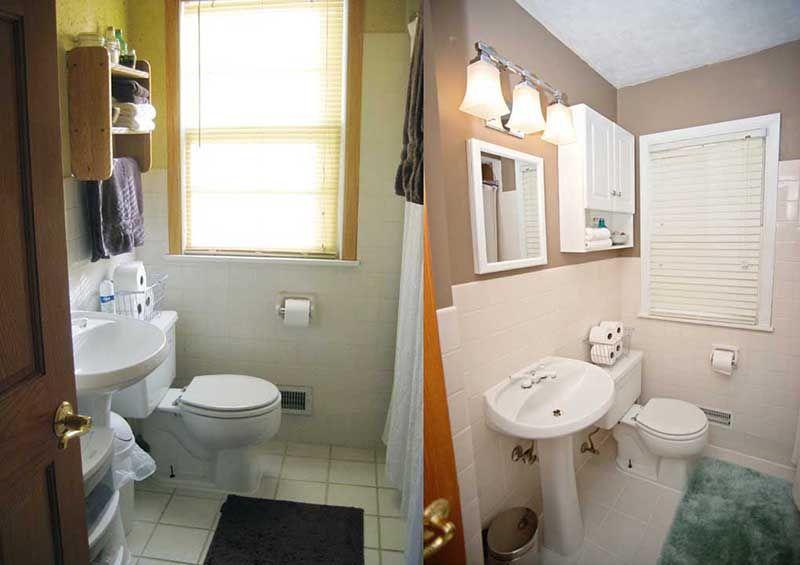Older Model Mobile Home Makeover Before And After Remodeling - Mobile home bathroom cabinets