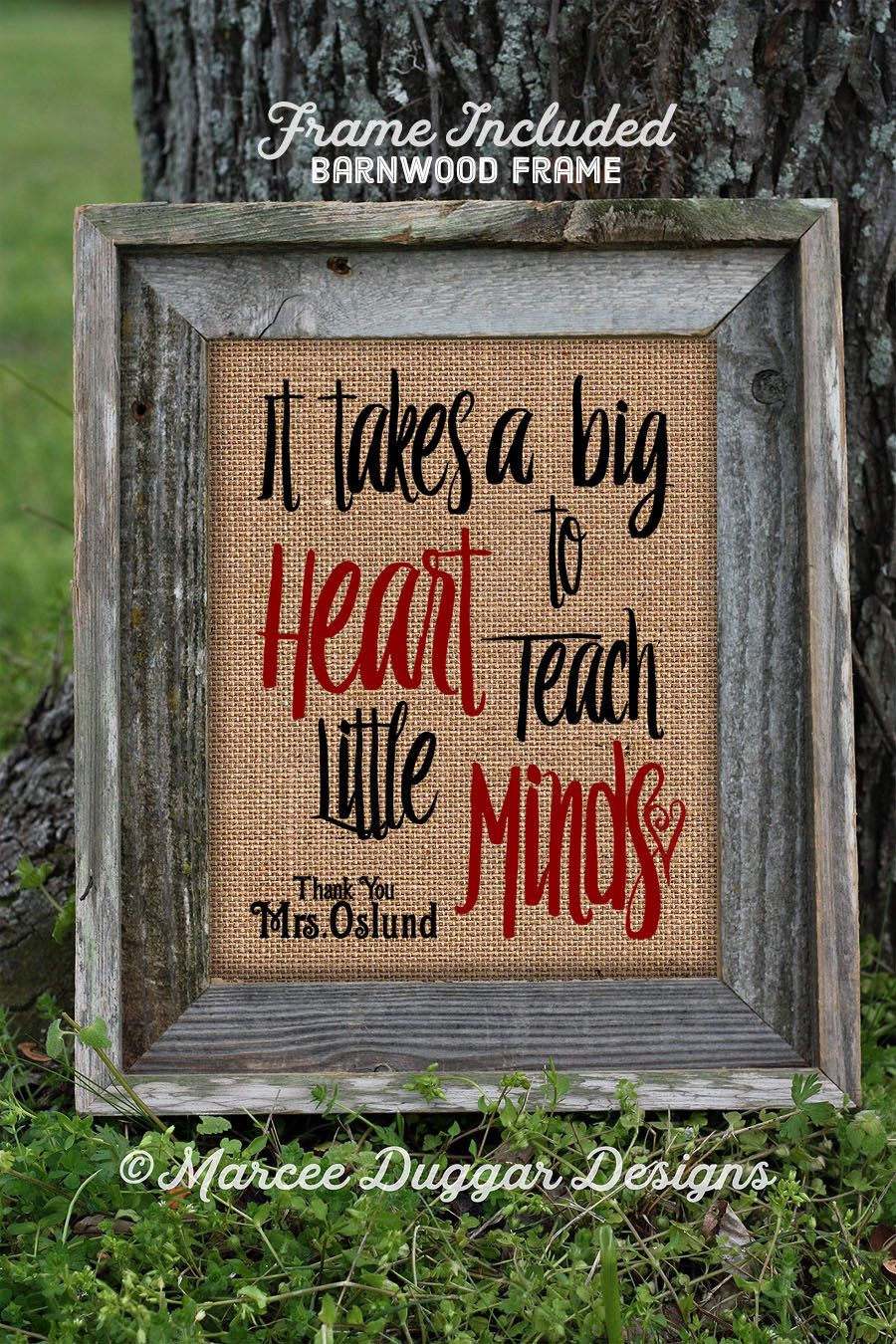 Framed Teacher Gift | Teacher Christmas Gift | Teacher End of Year ...