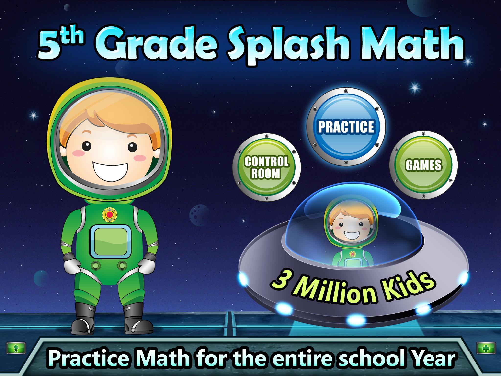 Splash Math Fun Math Practice For Grades 1 5 Splash Math 5th Grade Math Fun Math Homeschool Math [ 1536 x 2048 Pixel ]