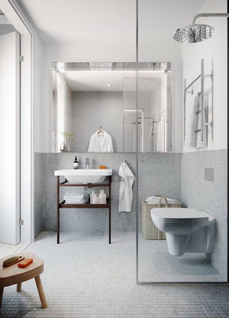 A vous de trouver la petite salle de bain moderne de vos rêves - Salle De Bain Moderne Grise