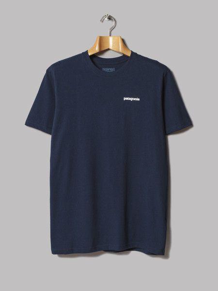 Patagonia P6 Logo T-Shirt (Navy Blue) – Oi Polloi
