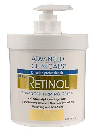 Advanced Clinicals Retinol Cream Spa Size For Salon Professionals Moisturizing Formula Penetrates Skin To Erase Firming Cream Retinol Fragrance Free Products