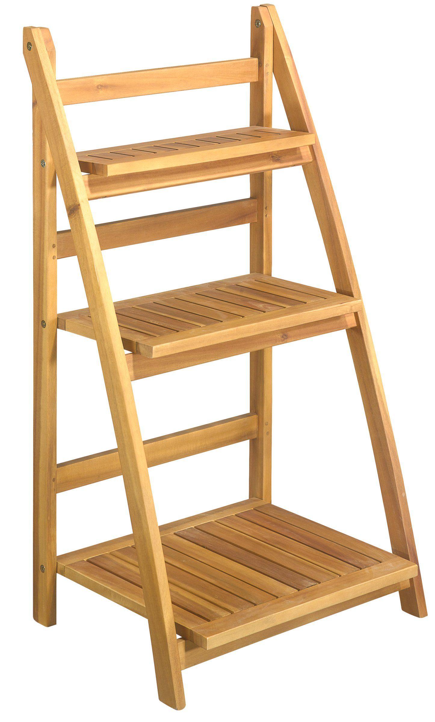 pflanzen regal 95cm akazienholz teaklook einrichtung pinterest akazienholz regal und. Black Bedroom Furniture Sets. Home Design Ideas