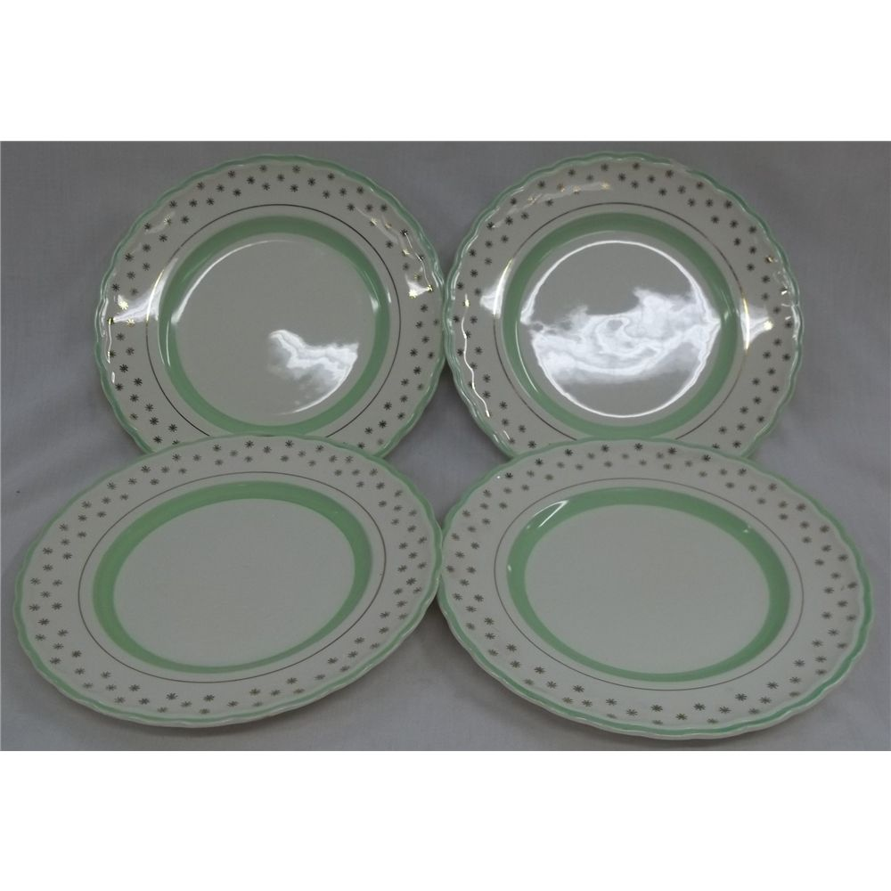 Art deco style vintage set of 4 dainty tea plates by Woods Ivory Ware 256, England | Oxfam GB | Shop