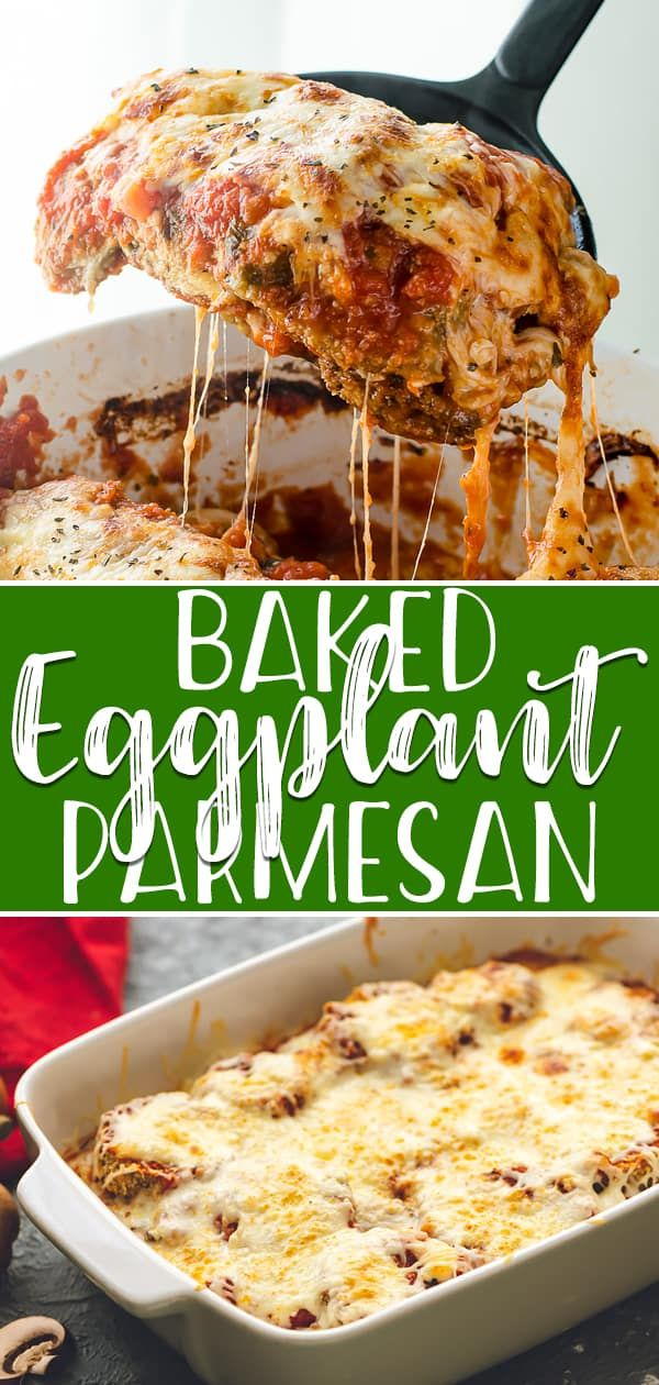 Photo of The Best (Healthier) Baked Eggplant Parmesan