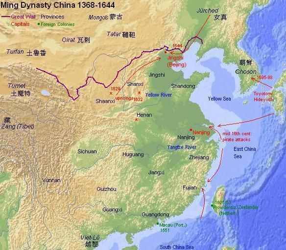 Map of ming china ming dynasty 1368 1644 pinterest history map of ming china fandeluxe Choice Image
