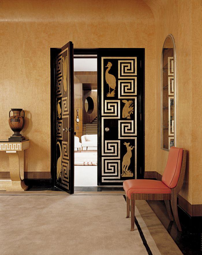 Un palais art d co dans la campagne anglaise entry hallway art deco deco art deco door - Deco style campagne anglaise 2 ...