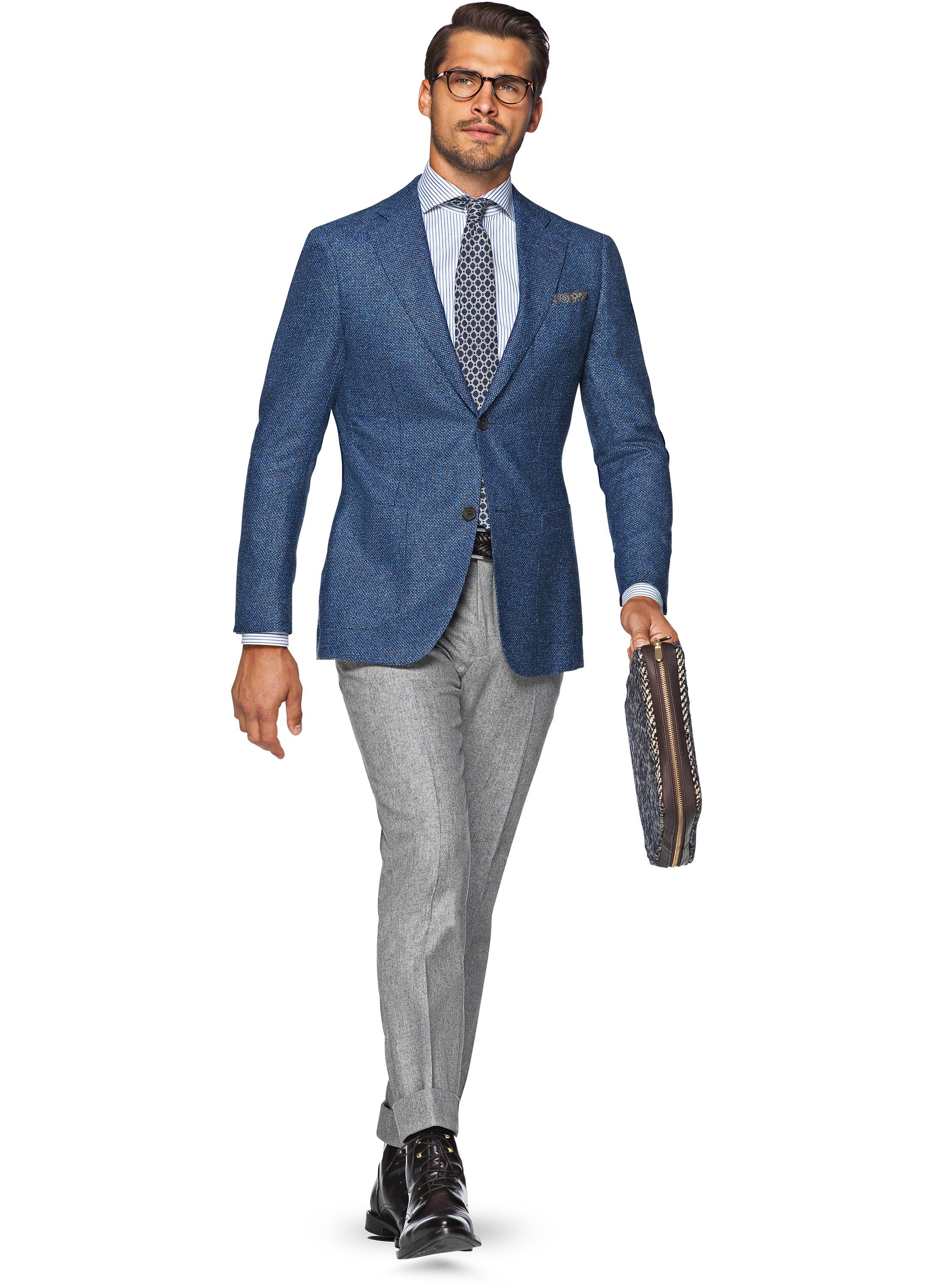 Jacket Blue Birds Eye Hudson C908i | Suitsupply Online Store | f ...