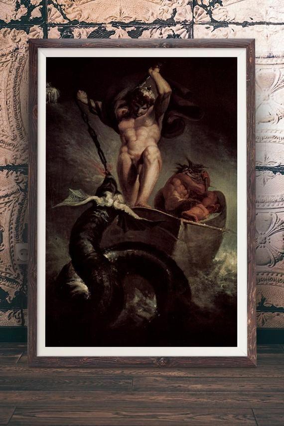 Henry Fuseli - Thor battling the Midgard Serpent Tags: Art ...