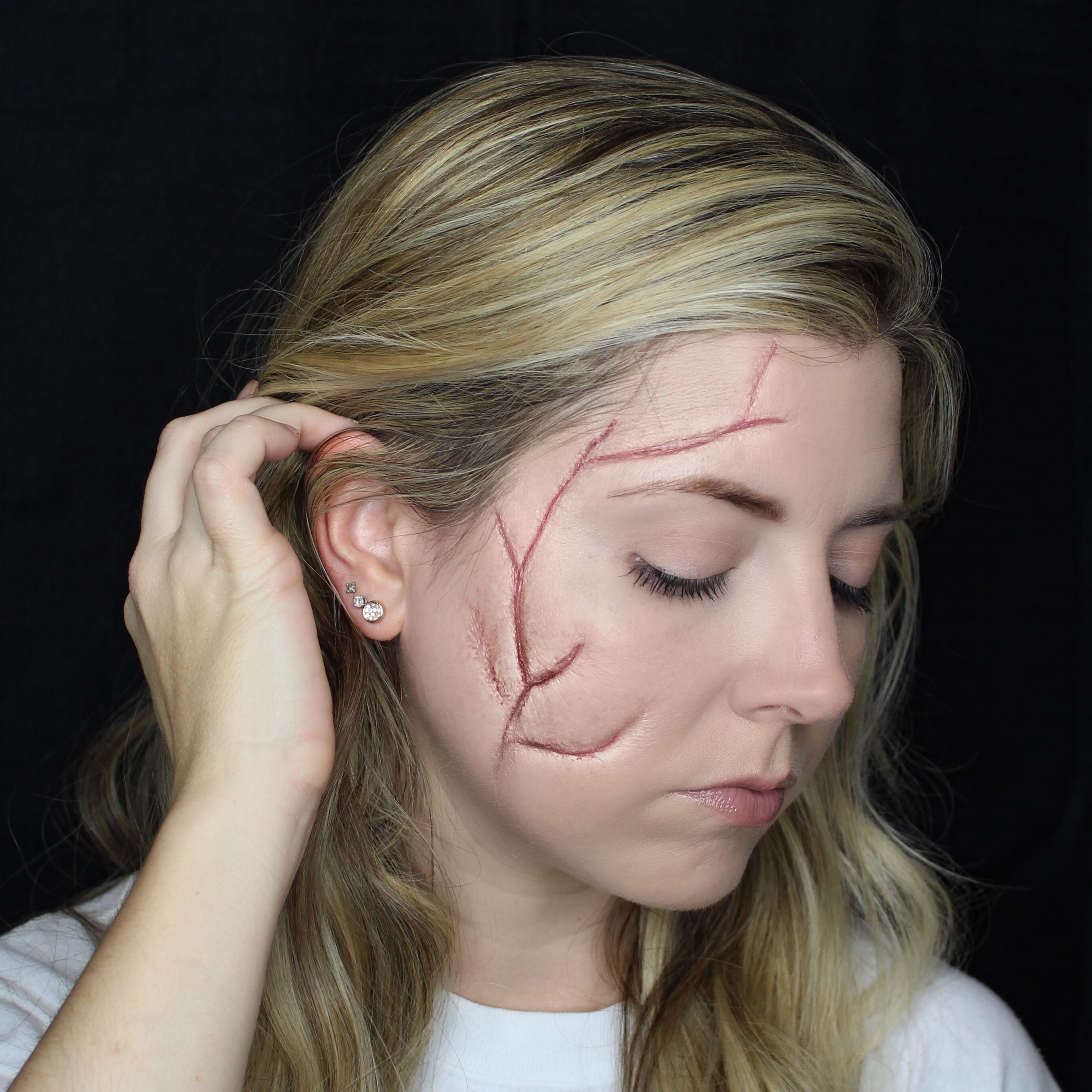 Easy Scar SFX Halloween Makeup Halloween makeup, Makeup