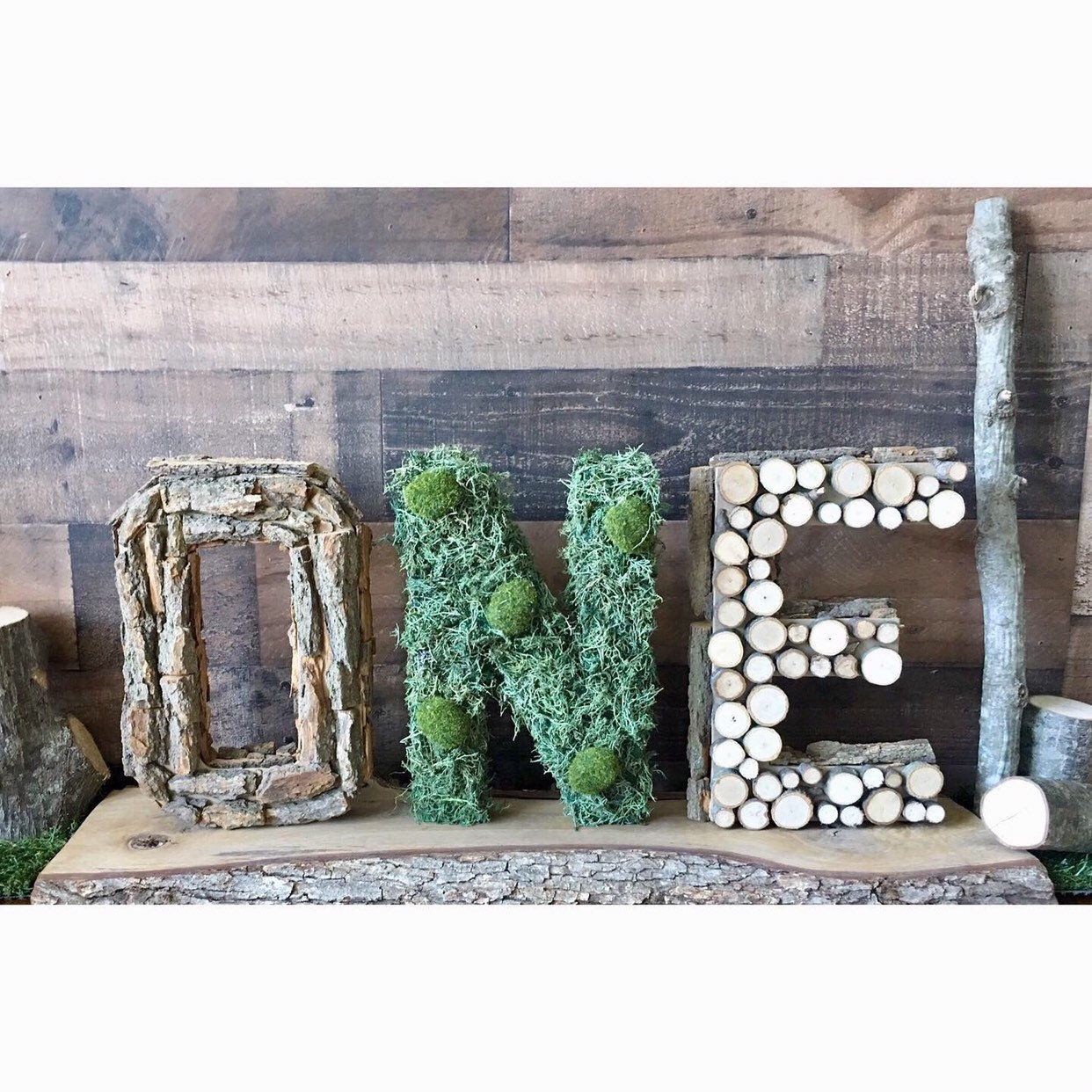 Woodland One Letters|Lumberjack First Birthday|Woodland Baby Shower Decorations|Forest Party|Milestone Numbers|1st Birthday Photoshoot