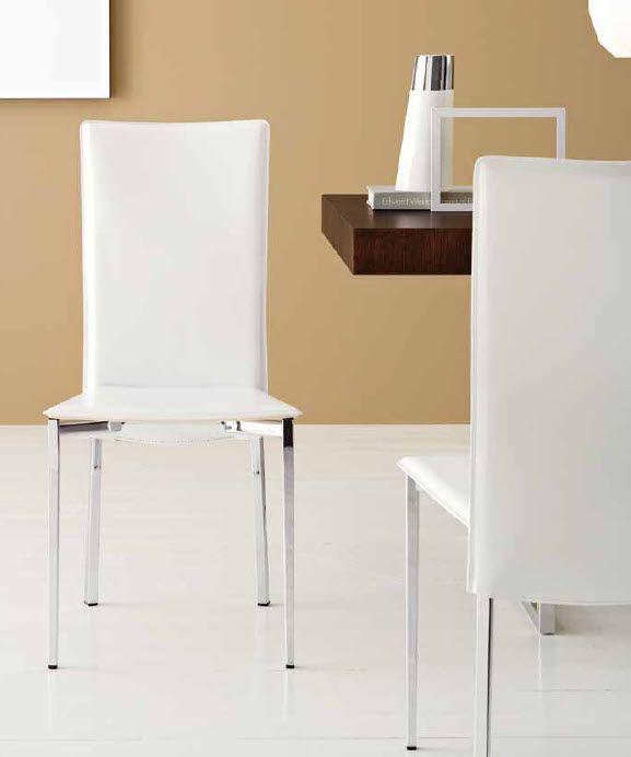 Silla polipiel blanca. Cod.: 2029 | Mesas y sillas para tu cocina ...