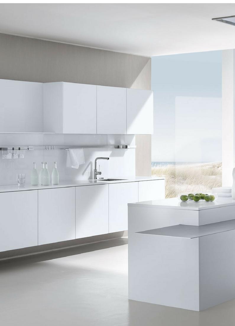 Weiß, Weiße Küche, Küche, Modern, Grifflos, Komplett In Weiß, Hochglanz