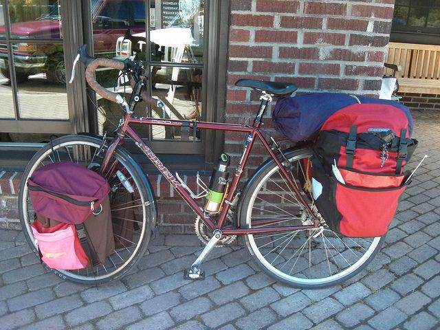 Jessica S Fully Loaded Trek 520 Touring Bike Bike Tour Adventure Bike