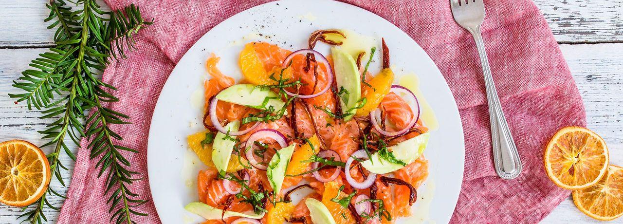Lachs Carpaccio mit Orange | REWE Rezept