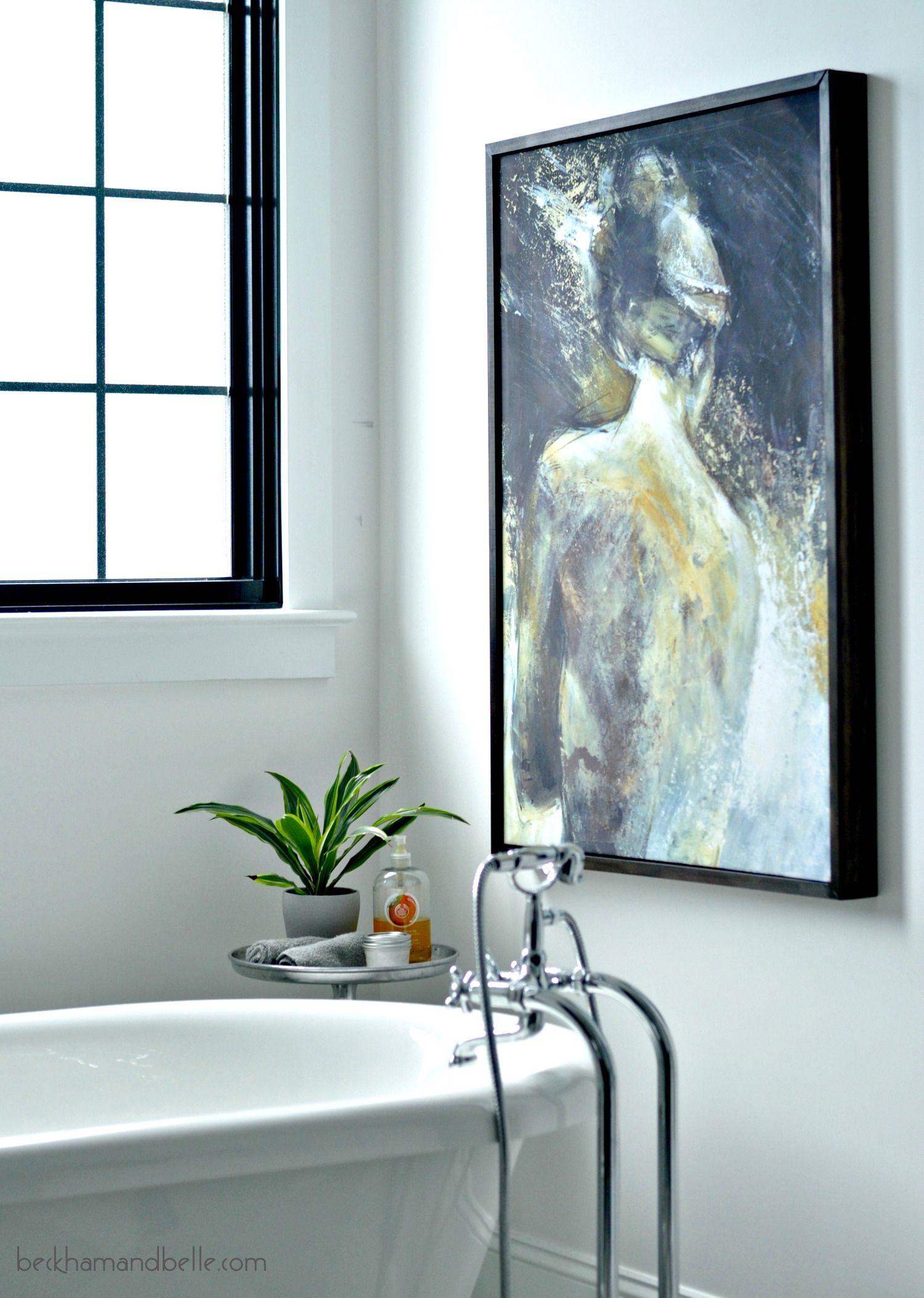 DIY Ideas for Framing Big Art on a Small Budget | Diy canvas frame ...