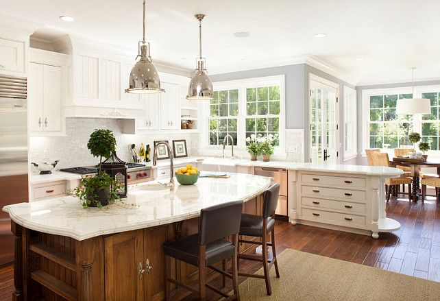 Beautiful Dutch Colonial Home : Exquisite Kitchen White Cupboard Dutch  Colonial Home Interior