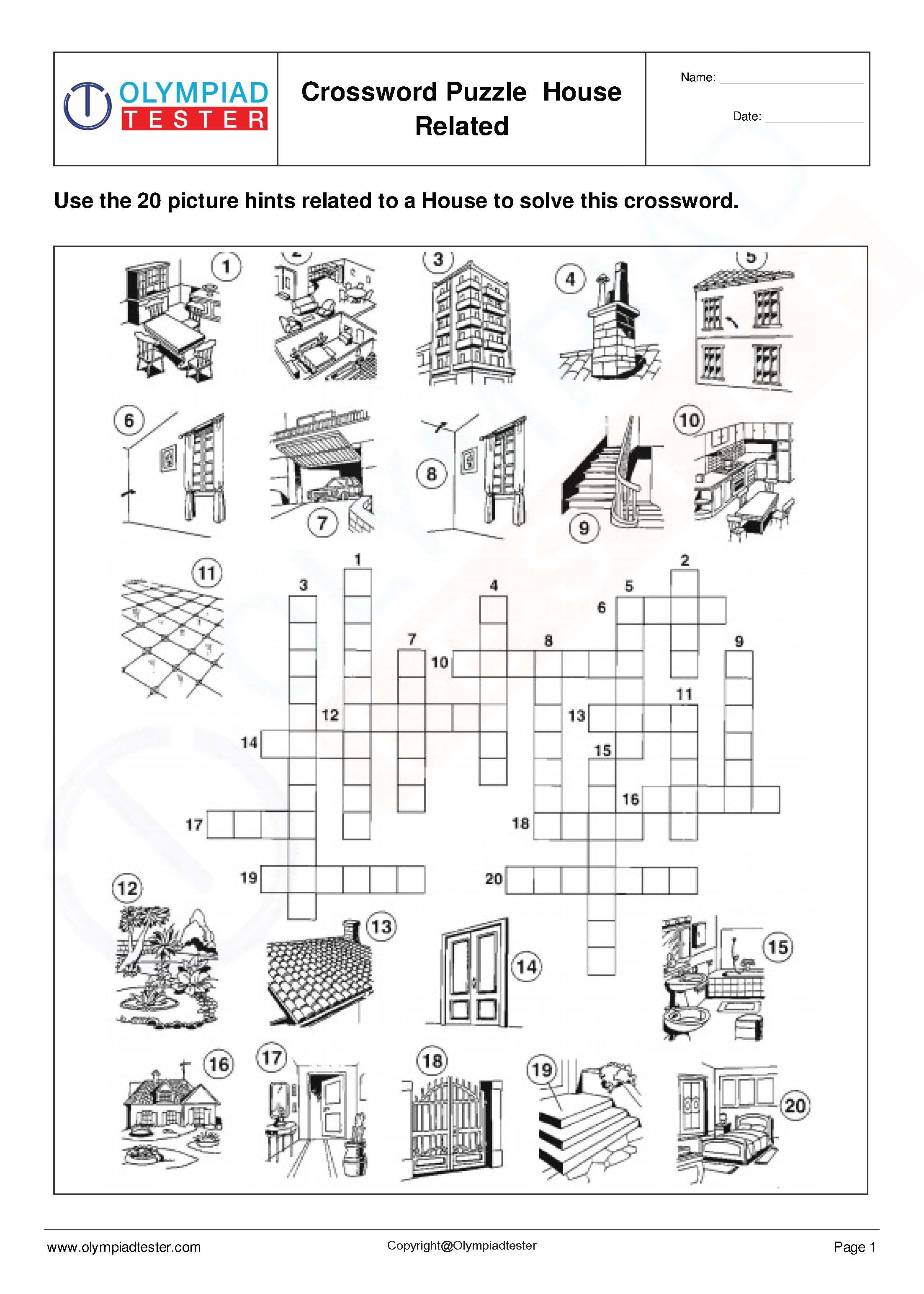 It's just a picture of Science Crossword Puzzle Printable inside elementary