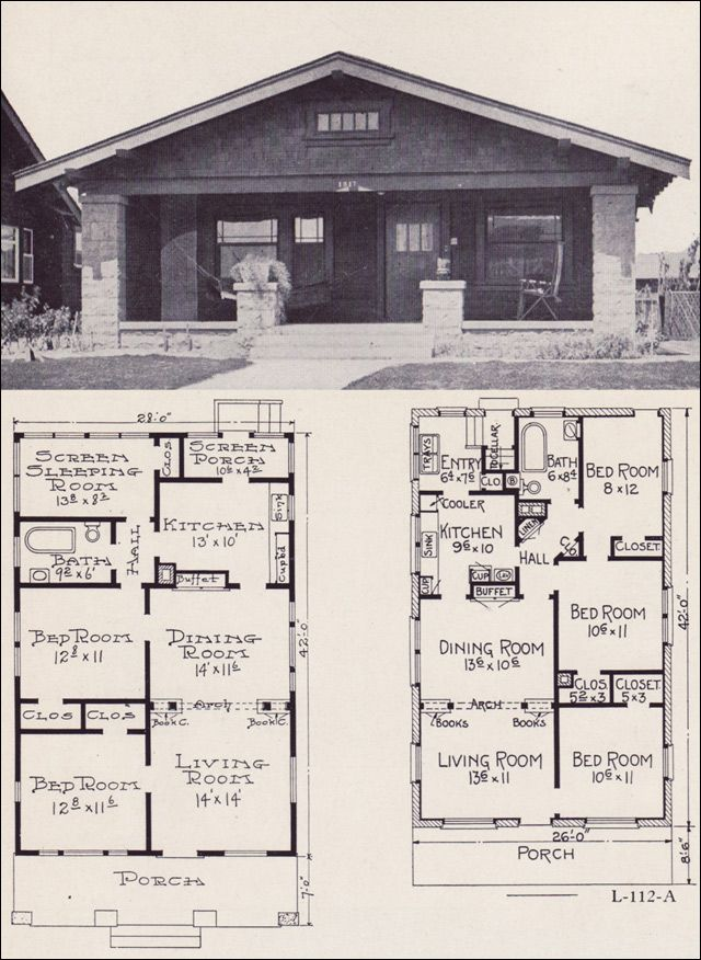 Bungalow House Plans 1922 Little Bungalows By E W Stillwell Co Bungalow House Plans Bungalow Floor Plans Craftsman Bungalow House Plans