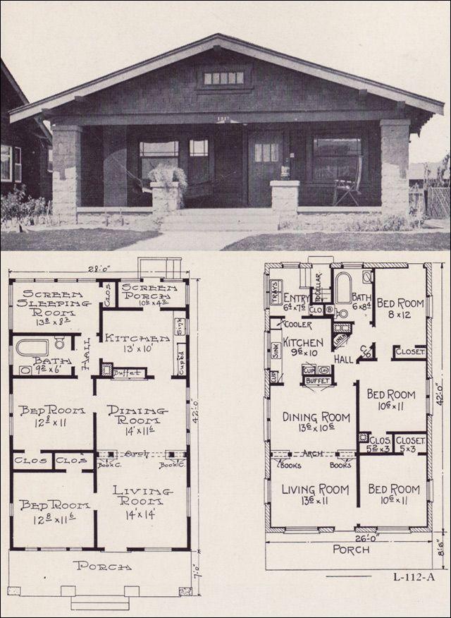 bungalow house plans 1922 little bungalows by e w stillwell - Bungalow Floor Plans