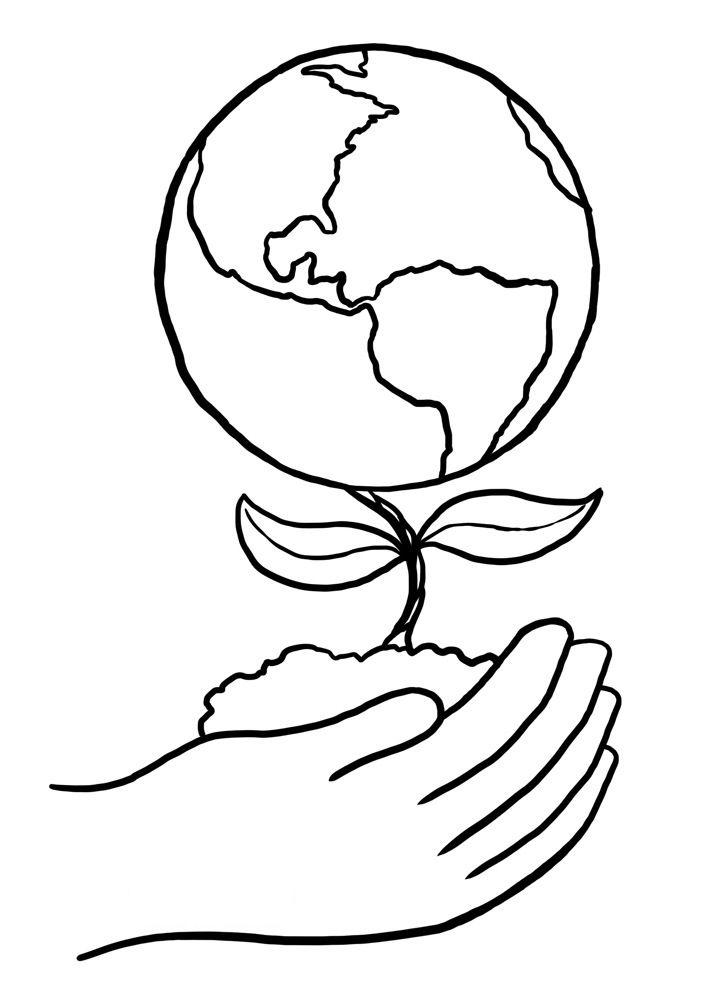 La Flor De La Tierra Dia De La Tierra La Tierra Dibujo Planeta Tierra Para Colorear