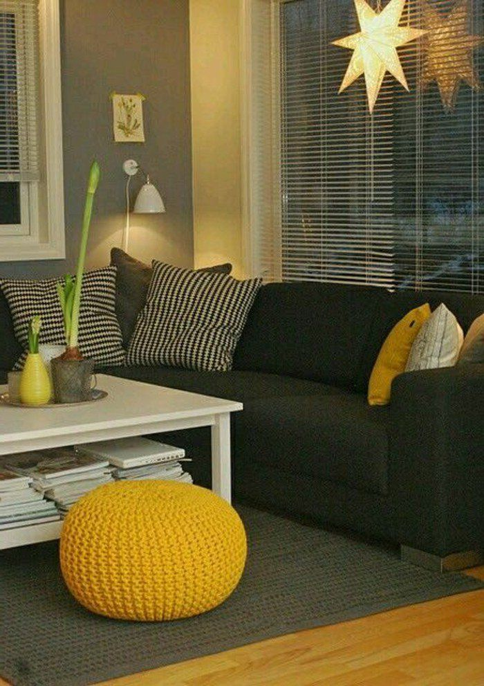 idees de decors avec couleur moutarde