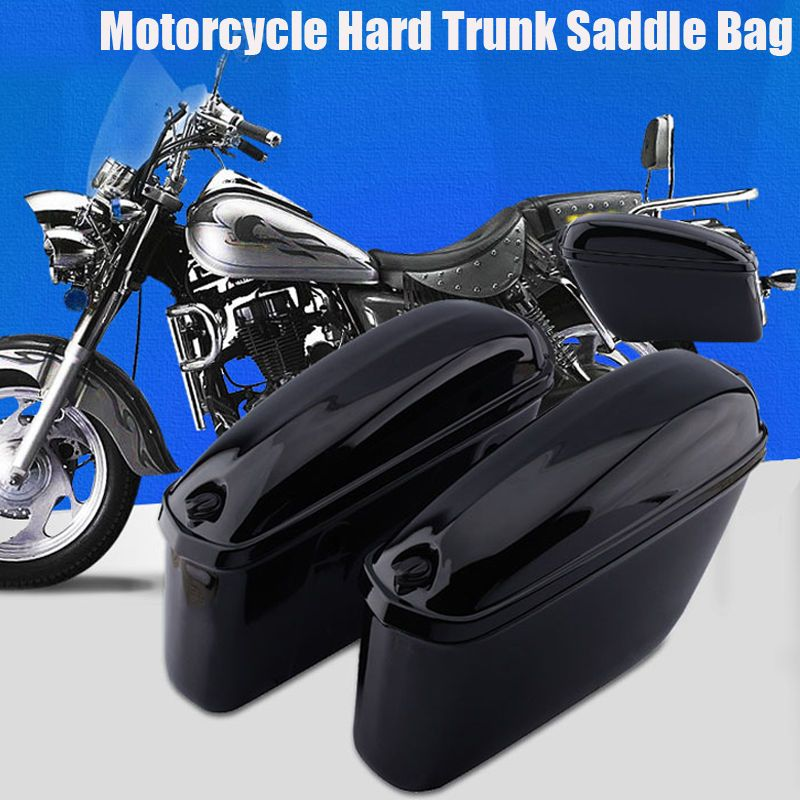22L Motorcycle Cruiser Hard Trunk Saddle Bag Box Side Storage Luggage + 2 Keys in Vehicle Parts u0026 Accessories Motorcycle Accessories Luggage | eBay! & 22L Motorcycle Cruiser Hard Trunk Saddle Bag Box Side Storage ...